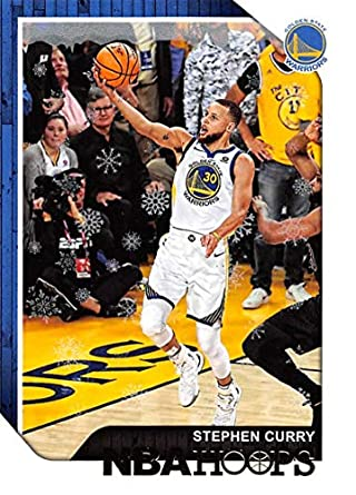 b2df599bb2a7f Amazon.com: 2018-19 NBA Hoops Holiday #15 Stephen Curry Golden State ...