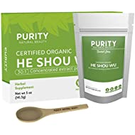 Certified Organic He Shou Wu - Large 5oz Bag of 30:1 Concentrated He Shou Wu Organic Extract Plus Free Bamboo Spoon