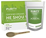Certified Organic He Shou Wu - Large 5oz Bag of 30:1 Concentrated He Shou Wu Organic Extract Plus Bamboo Spoon