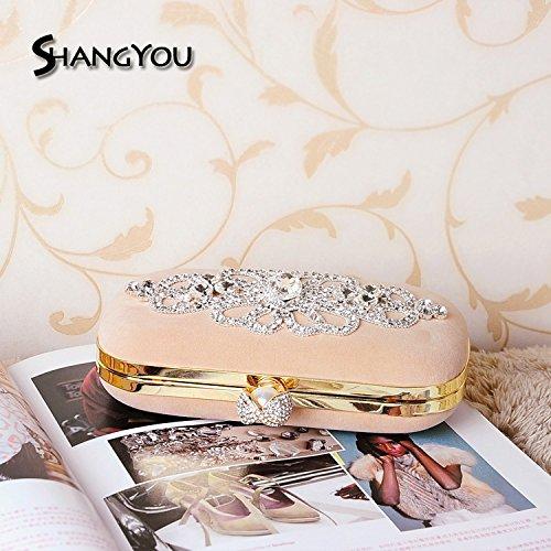 sac Banquet sac mariée à sac main gules main sac FYios diamant sac dîner sac à dame sac q5dEzWOw