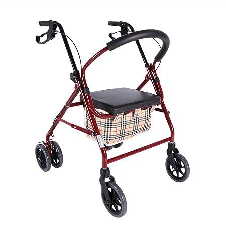 FKDErollator Ayuda Plegable de Movilidad para Caminar, Andador ...