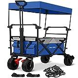 BEAU JARDIN Folding Wagon Cart with 1 Nylon Net 2