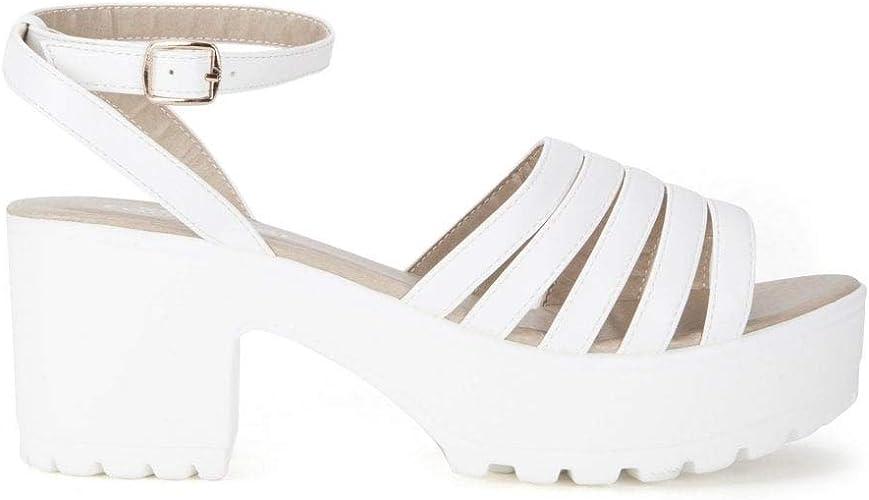 Shoe Closet Ladies White Strappy