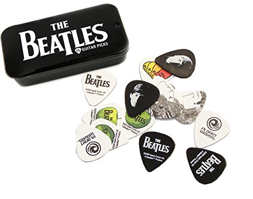 Planet Waves Beatles Signature Guitar Pick Tins, Logo, Medium 1CAB4-15BT1 w/Bonus RIS Pick (x1) 019954961213
