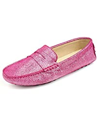 Comfortable Women Slip On Loafer Shoes Casual Glossy Driving Business Flat Shoes