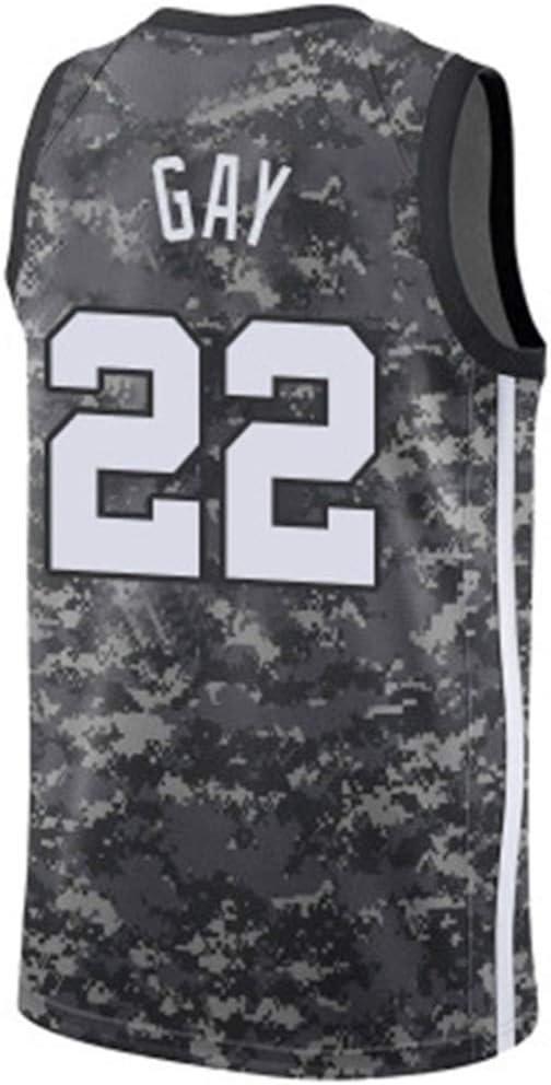 Rudy Gay 22# Baloncesto New Jersey Uniforme Temporada Personalizada, San Antonio Spurs Traje, NBA sin Mangas Unisex, XS-XXL
