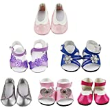 XADP 6 Pair Doll Shoes Dolls Accessories Fits for 18 Inch American Girl Dolls (Style 6)