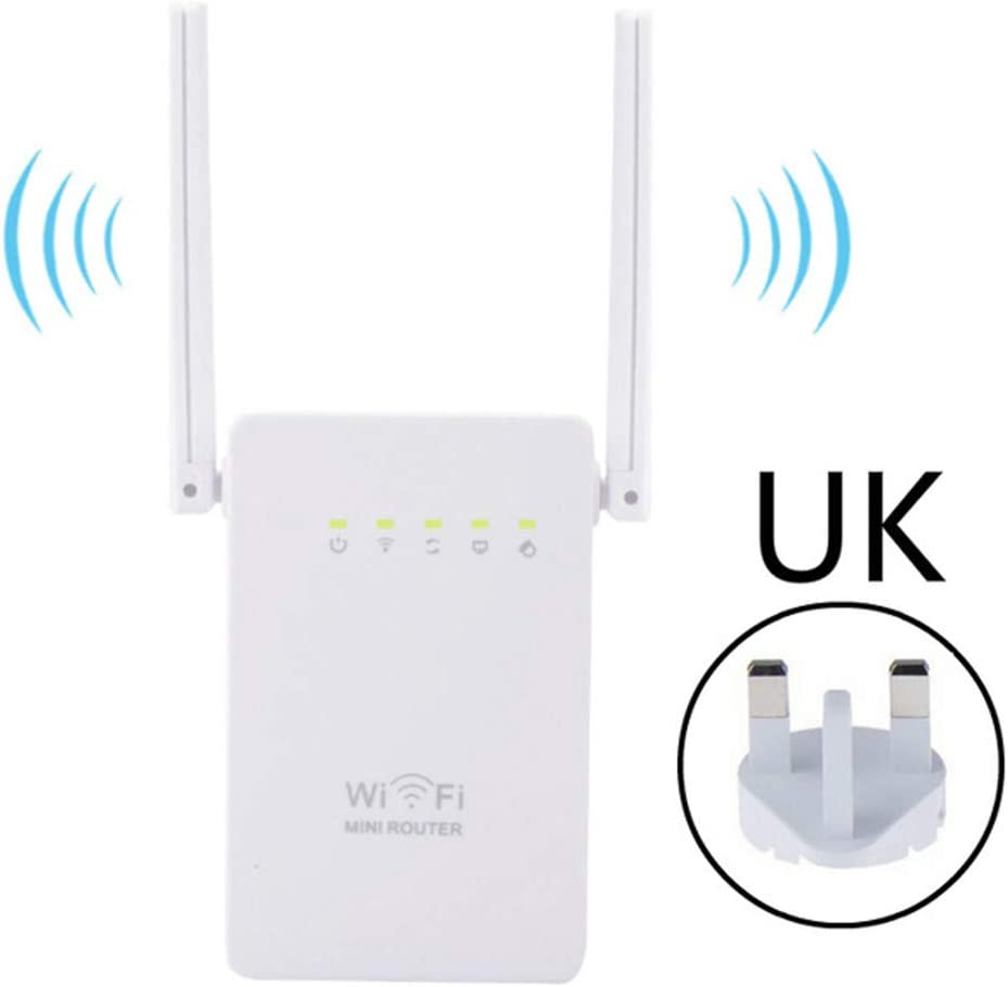 Dsqcai Mini Wireless Router 300Mbps//2.4Ghz WiFi Range Repeater Dual Antenna Support AP//Repeater//Router//Client 4 in 1 Mode