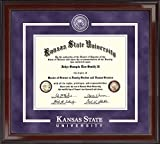 Kansas State Showcase Edition Diploma Frame - Features Solid Hardwood ''Encore'' Moulding - Officially Licensed - 8.5''h x 11''w Diploma Size - By Church Hill Classics
