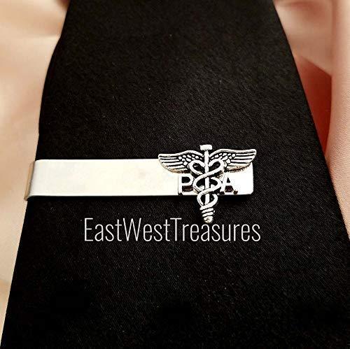 (PA physician assistant tie clip bar- suit tie necktie accessory-Physician assistant gift for men)