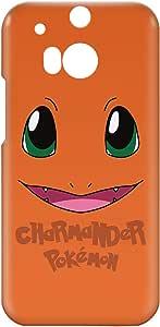 Loud Universe HTC One M8 Pokemon Charmander Print 3D Wrap Around Case - Orange