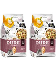 Witte Molen Pure Hamster Food Seed Mixture Mealworms, Sunflower Seeds, Puffed Rice, Grape Nuts, No Artificial Preservatives Dry Food, 1.7 lbs (2 Pack Pure Hamster Food Seed Mixture Mealworms)