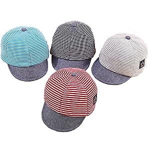 DANMY Baby Boy Baseball Cap Striped Sunhat Girl Brim Sun Protection Bow Hat