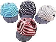 Baby Boy Baseball Cap Striped Sunhat Letter Sun Protection Hat