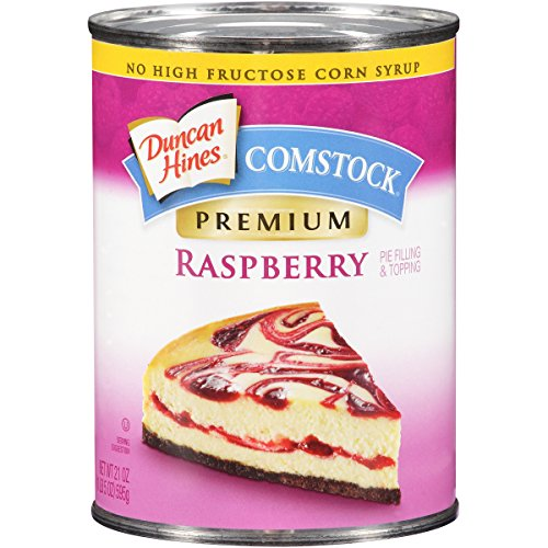 Pie Raspberry Filling - Comstock Premium Fruit Pie Filling & Topping, Raspberry, 21 Ounce (Pack of 12)