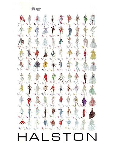 HALSTON 1983 Seasonal Collection Fashion Illustration Poster 18