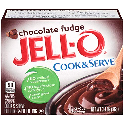 (JELL-O Chocolate Fudge Cook & Serve Pudding & Pie Filling Mix (3.4 oz Box, Pack of 6) )