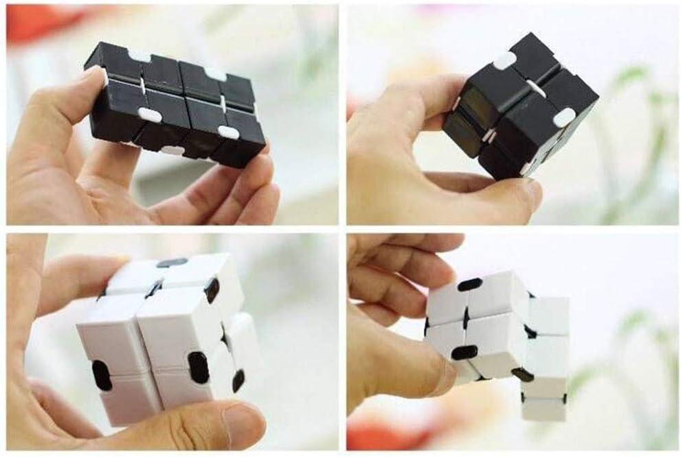 Lecez Infinity Cube Fidget W/ürfel-Spielzeug Fidget-Finger-Spielzeug Stress und Angst Relief Killing Time Fidget Spielzeug Infinite Cube for B/üropersonal Erwachsene Kinder