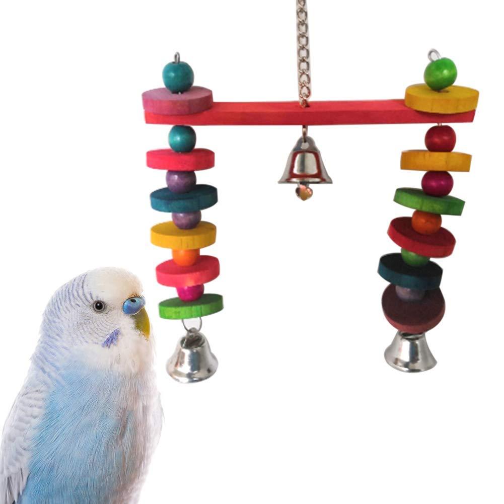 Ogquaton Juguete de Columpio para pájaros, Loro de Color Brillante ...