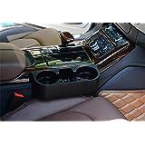 حامل أكواب للسيارة متعدد الاستخدامات يحتوي على منظم صور زجاجات ومقعد خلفي للشرب ومسند سيارة وزجاجة مياه وحامل أكواب مزدوج للهواتف الخلوية