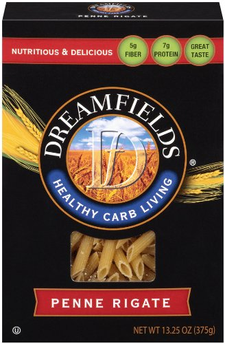Dreamfields Pasta Healthy Carb Living, Penne Rigate, 13.25-Ounce Boxes (Pack of 6)