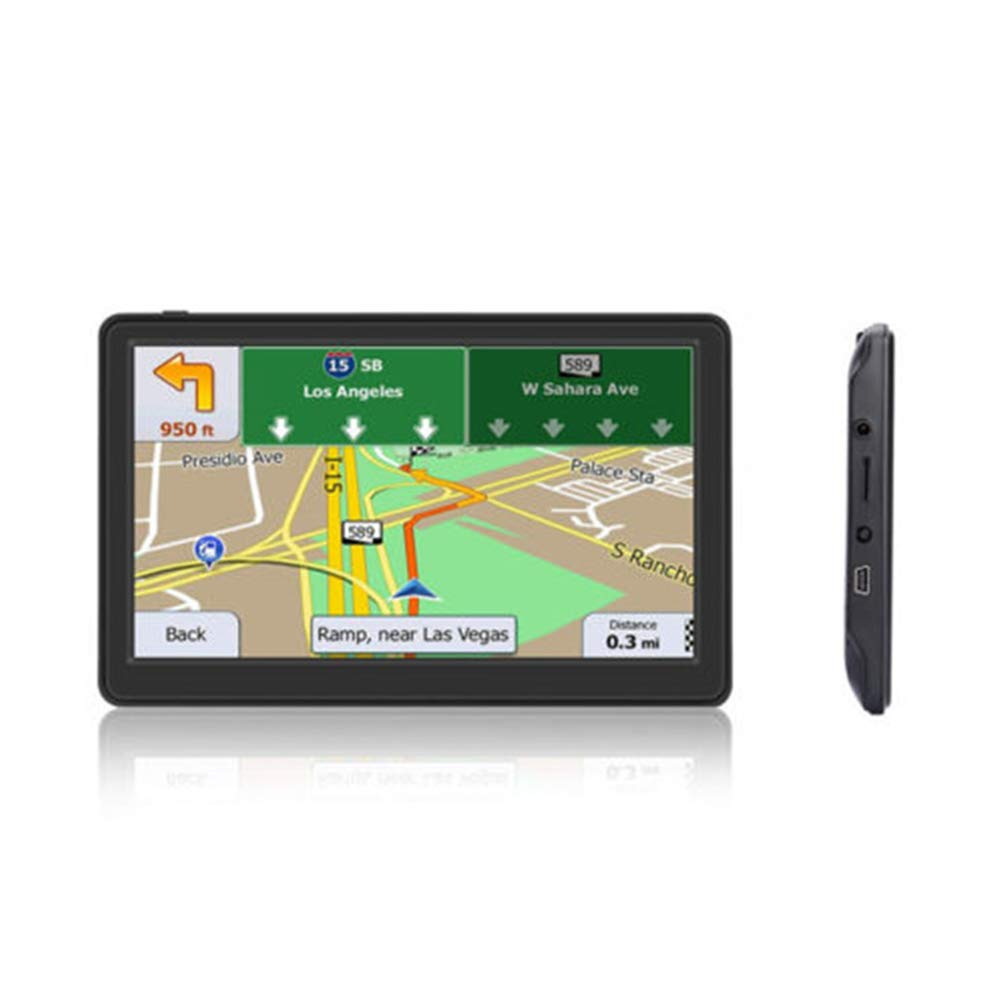 GPS Navigator, 256MB with Lifetime Map Capacitive Touch Screen Black 8GB ROM 7 inches Portable Car GPS by DaDaU.