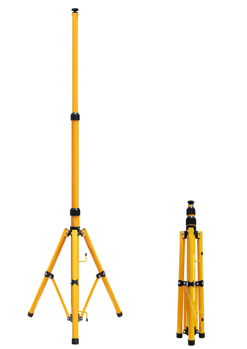 Floodlight Tripod Stand for Job Site Lighting 1 Mount Retractable Frame TRI01 Long Life Lamp Company