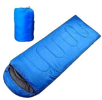 Saco de Dormir con Cremallera, Portable y Impermeable para Camping Al Aire Libre (Azul): Amazon.es: Deportes y aire libre