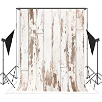5x7ft (1.5x2.2m) White Wood Backdrops for Photographers Vintage Baby Photo Background Props with Wood Floor