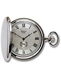 Oxford Hunter Case Pocket Watch with Sub-Seconds - Silver