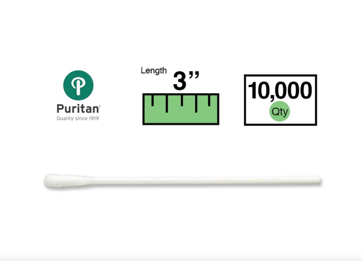 Puritan 3'' Small Cotton Swab w/Polypropylene Handle - 839-PPCS - Case of 10000