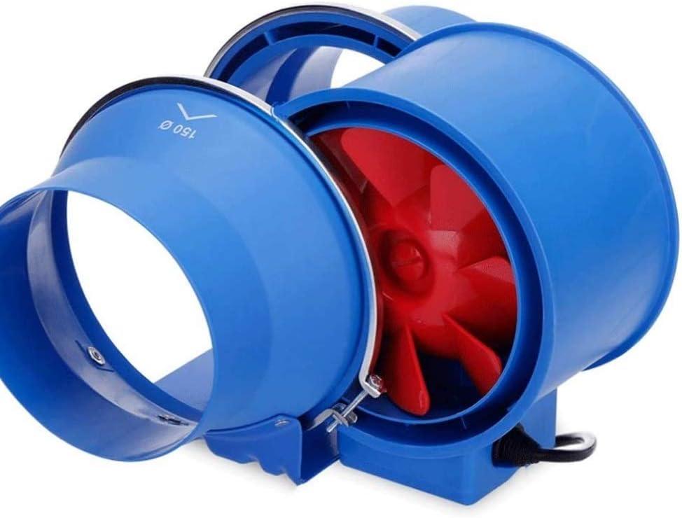 LXZDZ Azul Tubo de escape del ventilador, baño poderosa Silencio Turbo del alto rendimiento en el soplador Extractor