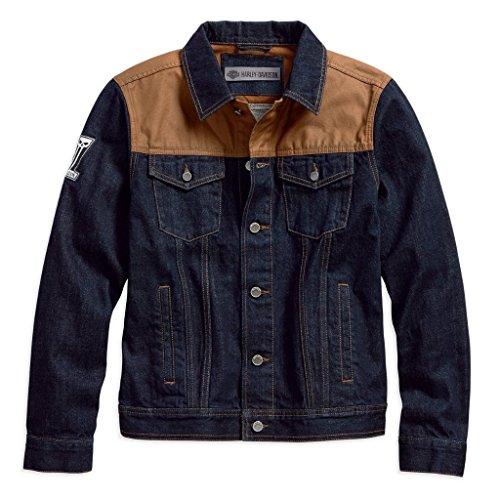 Denim 18vm Canvas Harley Slim davidson® Waxed Fit Jacket Men's 98588 vYvwHOqa