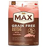 NUTRO MAX Grain Free Adult Recipe With Salmon Dry Dog Food, 25 lbs.; (1) 25-lb. bag,  Rich in Nutrients and Full of Flavor