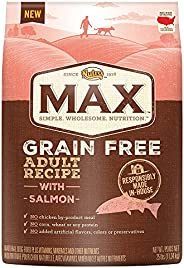 Nutro Max Grain Free Adult Recipe With Salmon Dry Dog Food, 25 Lbs.; (1) 25-Lb. Bag,  Rich In Nutrients And Full Of Flavor (