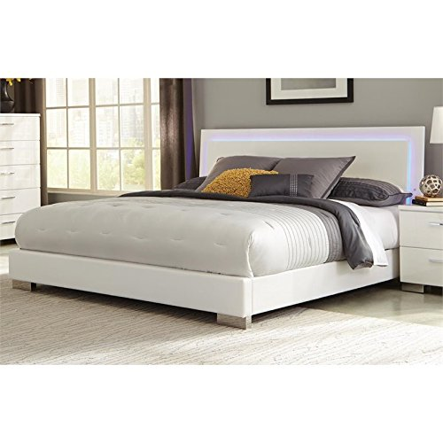 "Coaster Home Furnishings 203500KW Platform Bed, 75.5"" W x 91"