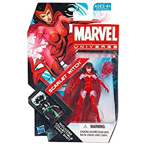 51Iq5HjSGTL. SS300 Marvel Universe Series 4 Scarlet Witch #016 3.75 Inch
