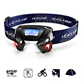 Best Rechargeable Headlamps - Rechargeable Sensor Headlamp,Ultra Bright 600 Lumens White Cree Review