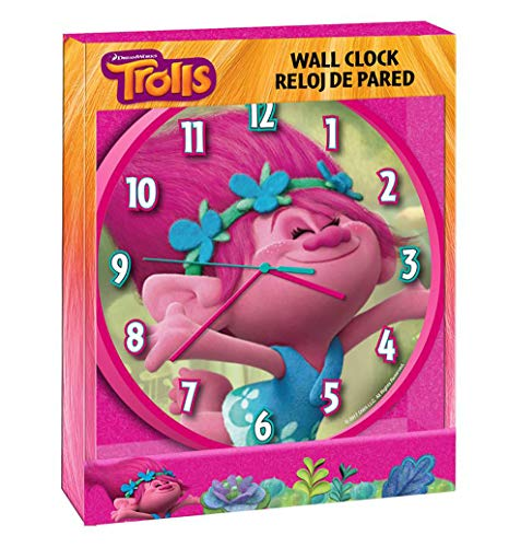 Childrens Wall Clock, Trolls Poppy Wall Clock, Officially Licensed,Brand (Wall Clock Licensed Officially)