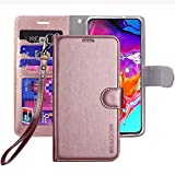 ERAGLOW Galaxy A70 Case,Galaxy A70 Wallet Case,Premium PU Leather Wallet Flip Protective Phone Case Cover w/Card Slots & Kickstand for Samsung Galaxy A70 2019(Rose Gold)