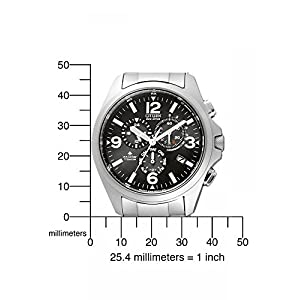 Citizen AS4030-59E - Reloj cronógrafo de Cuarzo para Hombre, Correa de Titanio Multicolor 4
