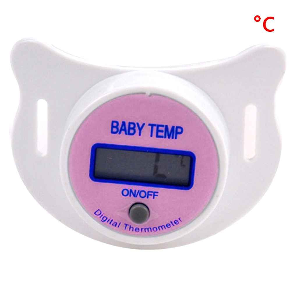Mengonee Baby Nippel Thermometer medizinische Schnuller LCD Digital Thermometer Gesundheit Sicherheit Pflege Thermometer f/ür Kinder Baby Zubeh/ör
