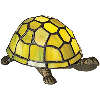 Green Tortoise Tiffany Style Accent Lamp