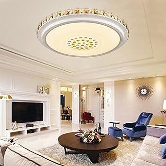 TYDXSD Runde Deckenleuchte Crystal Light LED Leuchtet Helle Wohnzimmer Lampe Schlafzimmer Moderne Minimalistische Esszimmer Lampen In