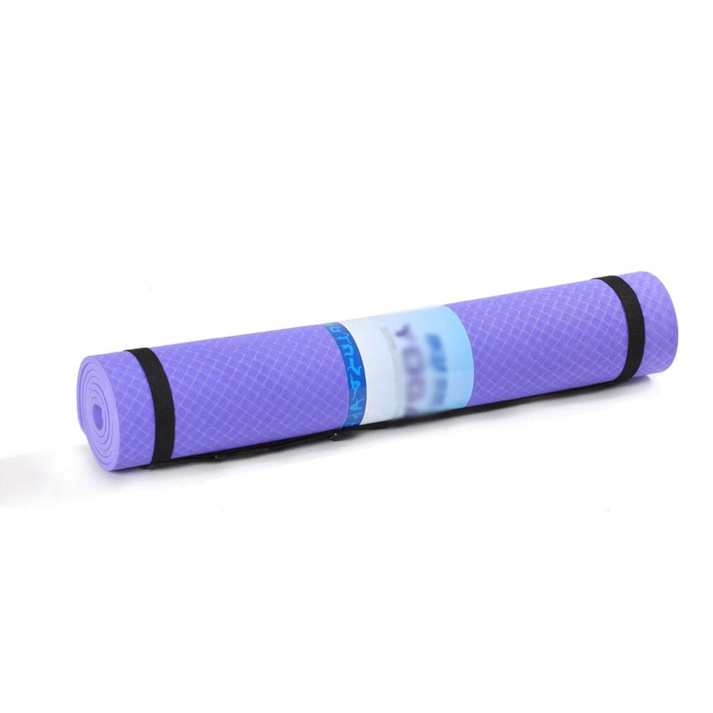 Amazon.com : YXGYJD Yoga Mat Exercise Mat for Home Gym Fitness and Camping, Rebound, Non-Slip, Tasteless, 18380, 6mm Thick, Green, Blue, Purple Yoga Mat ...