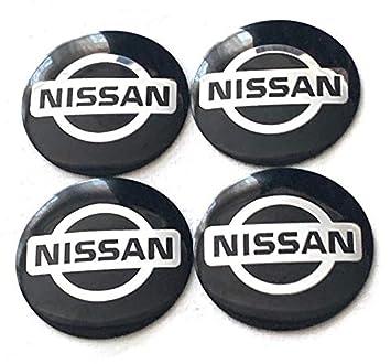 Juego de 4 adhesivos para tapacubos con logotipo de Nissan, 55 mm: Amazon.es: Coche y moto