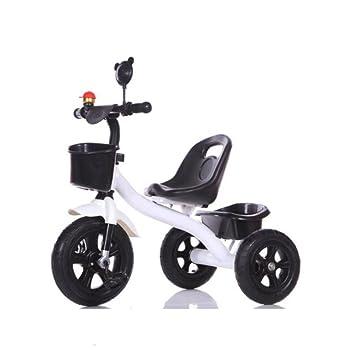 QXMEI Bicicleta De Carrito De Pedales Triciclo para Niños 1-3-6 Años De Edad,White1: Amazon.es: Hogar