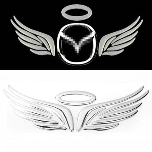 New 3d Angel Wings Chrome Car Emblem Decal Badge Sticker Universal