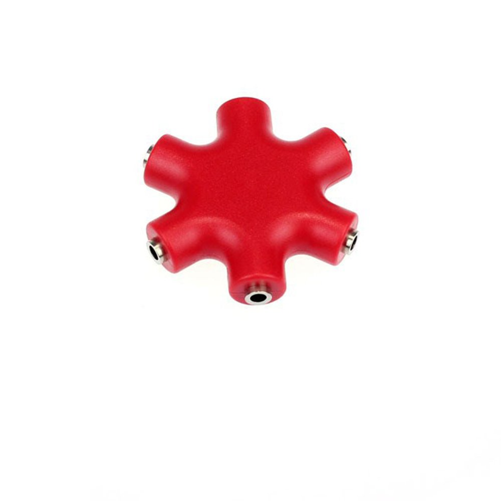 Uicoco Divisor de Audio 5/Puertos convertidor Divisor de etoiler Audio Jack 3.5/mm Rojo Rojo 5-Way