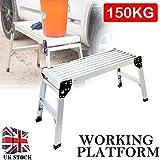 Plegable Paso Hop Up doble banco decoración plataforma de trabajo escalera aluminio fase